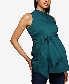 A Pea In The Pod Maternity Peplum Blouse
