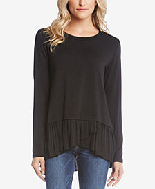 Karen Kane Ruffled High-Low Top