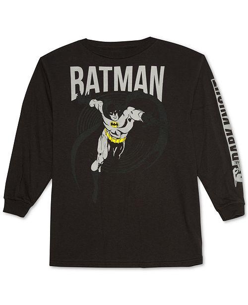 da878cadbd9 DC Comics Big Boys Batman Cotton T-Shirt - Shirts   Tees - Kids - Macy s