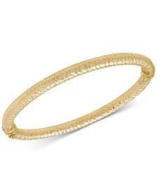 Textured Bangle Bracelet in 14k Gold