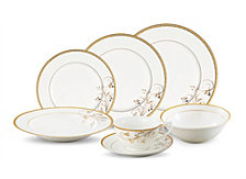 Lorren Home Trends Rosalia 28 Piece Dinnerware Set, Service for 4