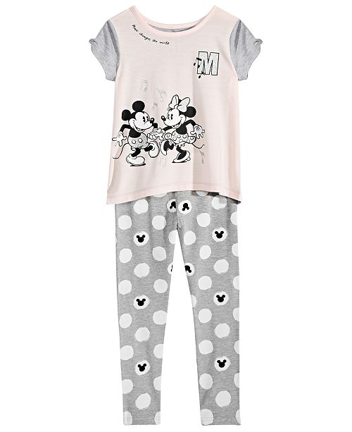 37c0d0e2e94ab ... Leggings Set; Disney Toddler Girls 2-Pc. Mickey & Minnie Mouse Top &  Leggings ...