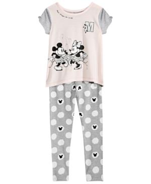 Disney Toddler Girls 2Pc Mickey  Minnie Mouse Top  Leggings Set