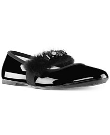 Nina Toddler, Little & Big Girls Silvia Faux-Fur Ballet Flats