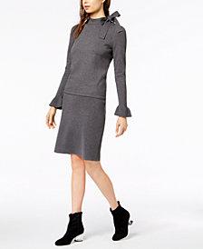 Bar III Tie-Neck Sweater Top & Skirt, Created for Macy's