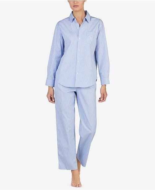 Lauren Ralph Lauren Striped Pajama Set - Bras dd92c4529