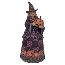 CLOSEOUT! Enesco Jim Shore Harvest Fig Friendly Pumpkin Witch