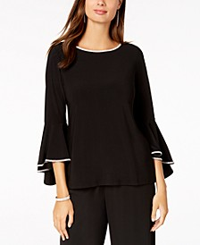 Petite Embellished Bell-Sleeve Top