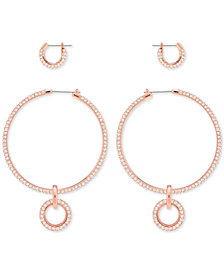 Swarovski 2-Pc. Set Crystal Hoop Earrings
