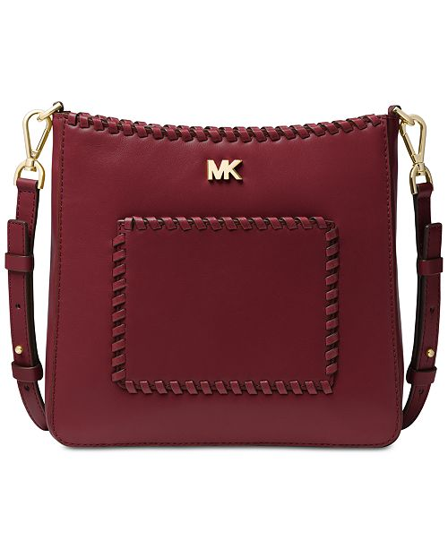 3bb4d69a1833 Michael Kors Gloria Pocket Stitched Leather Crossbody   Reviews ...