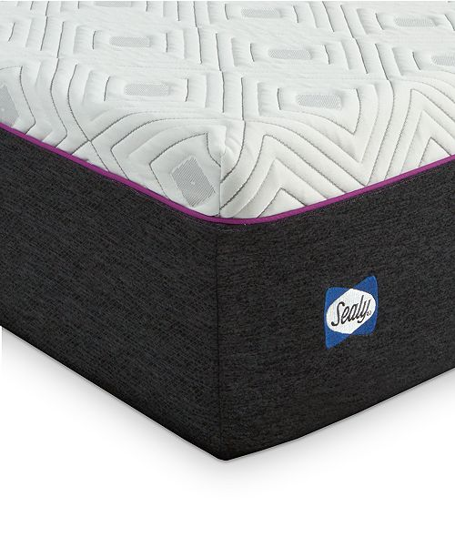 "Sealy to Go 12"" Cushion Firm Hybrid Mattress, Quick Ship, Mattress in a Box- King"