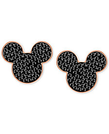 Swarovski Rose Gold-Tone Crystal Mickey Mouse Stud Earrings
