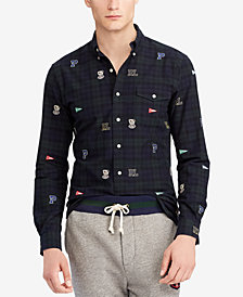 Polo Ralph Lauren Men's Embroidered Cotton Oxford Classic Fit Shirt