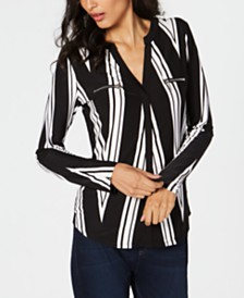 I.N.C. Striped Top, Created for Macy's