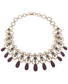 "Ivanka Trump Gold-Tone Crystal & Stone 17"" Statement Necklace"