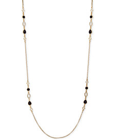 "Ivanka Trump Gold-Tone Stone 42"" Station Necklace"