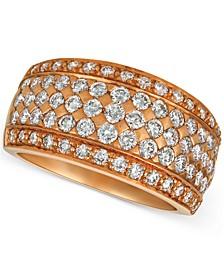Diamond Pavé Wide Multi-Row Ring (1-1/2 ct. t.w.) in 14k Rose Gold