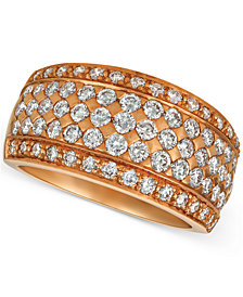 Le Vian® Diamond Pavé Wide Multi-Row Ring (1-1/2 ct. t.w.) in 14k Rose Gold
