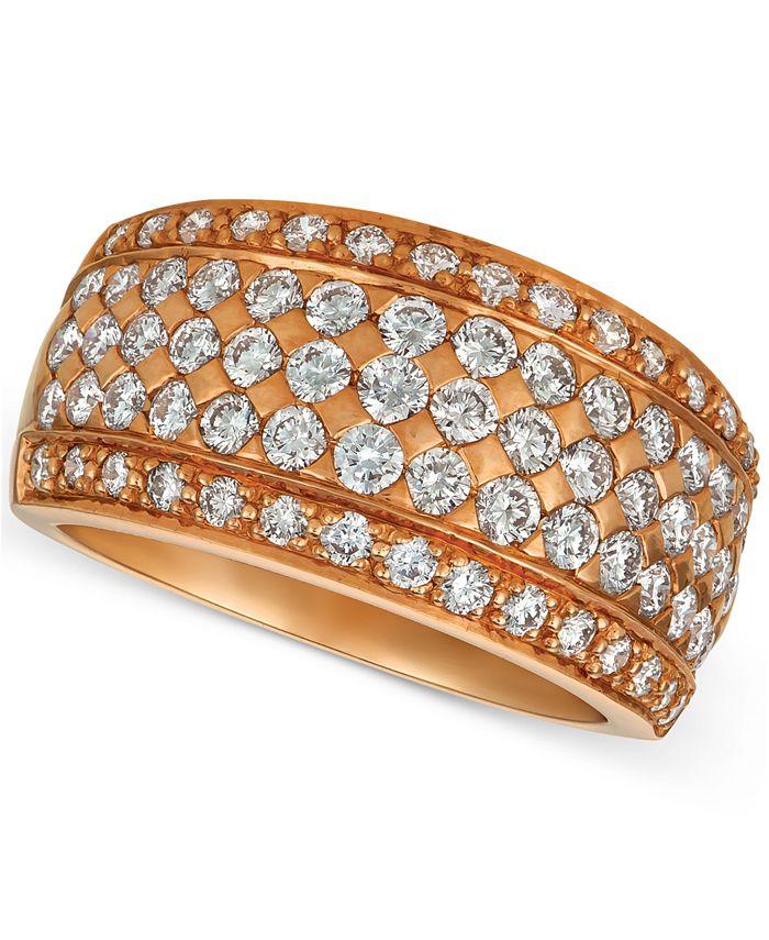 Le Vian - Diamond Pavé Wide Multi-Row Ring (1-1/2 ct. t.w.) in 14k Rose Gold