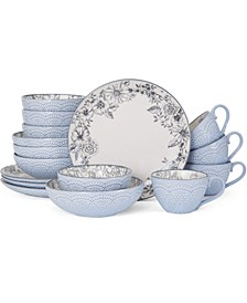 Gabriela Gray 16-Pc. Dinnerware Set