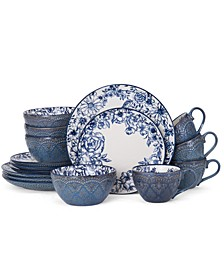 16-Pc. Gabriela Blue Dinnerware Set