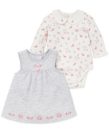 Little Me Baby Girls 2-Pc. Floral-Print Bodysuit & Jumper Set