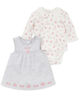Little Me Baby Girls 2Pc FloralPrint Bodysuit  Jumper Set