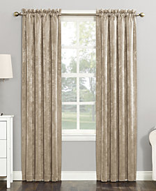 Sun Zero Cassidy Textured Velvet Blackout Rod Pocket Window Treatment Collection