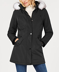 HFX Hooded Faux-Fur-Trim Parka