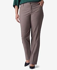 1fdb415576d Lee Platinum Plus   Petite Plus Size Madelyn Straight-Leg Trousers