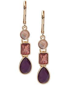 Nine West Triple-Stone Linear Drop Earrings