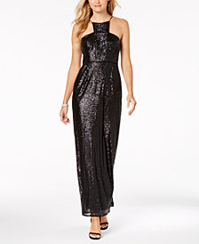 Adrianna Papell Sequin Cutaway Gown