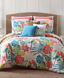 Oceanfront Resort Tropical Plantation Toile King Comforter Set