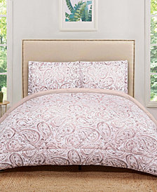 Truly Soft Watercolor Paisley Twin XL Comforter Set