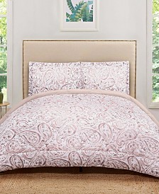 Truly Soft Watercolor Paisley Full/Queen Comforter Set