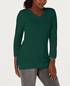 Karen Scott V-Neck Sweater, Created for Macy's