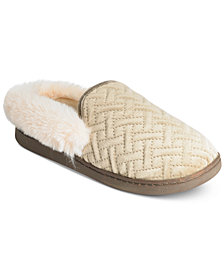 Charter Club Quilted Clog Slippers, Created for Macy's