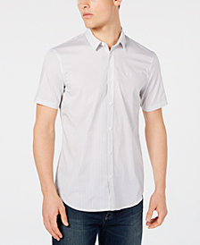 A|X Armani Exchange Men's Stretch Star-Pattern Shirt, Created for Macy's