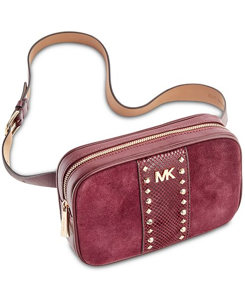 676a17f4beea Michael Kors Studded Fanny Pack, Created for Macy's & Reviews ...