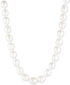 "Carolee Silver-Tone Imitation & Freshwater Pearl (4-12mm) 16"" Collar Necklace"