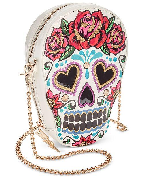 ac55d81f3 Betsey Johnson Sugar Skull Crossbody & Reviews - Handbags ...
