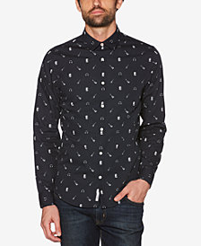 Original Penguin Men's Rock Band Printed Shirt