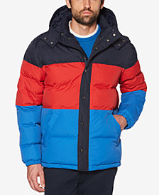 Original Penguin Men's Oversized Quilted Colorblocked Puffer Jacket