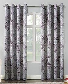 Lawson Distressed Global Tile-Print Grommet Curtain Panel Collection