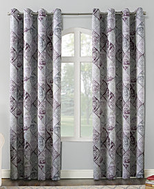 Sun Zero Lawson Distressed Global Tile-Print Grommet Curtain Panel Collection