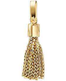 Michael Kors Women's Custom Kors 14K Gold-Plated Sterling Silver Tassel Charm