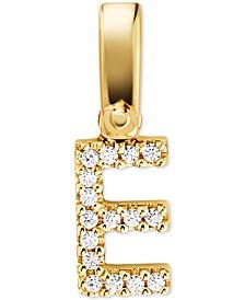 Women's Custom Kors 14K Gold-Plated Sterling Silver Letter Charm