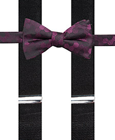 Alfani Men's Geometric Pre-Tied Bow Tie & Suspender Set, Created for Macy's