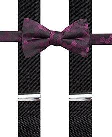 Alfani Men's Geometric Pre-Tied Bow Tie & Suspender Set, Created for Macy's