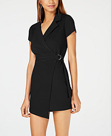 Almost Famous Juniors' Wrap Blazer-Style Romper